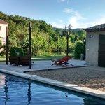 Área comum e piscina