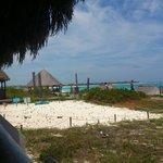 Vista camino a la playa