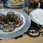 Scamorza e verdure grigliate