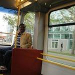 Tram near Hotel