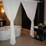 The amazing large bathroom in the Honeymoon Suite