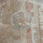 Uma das paredes preservadas dos bombardeios da 2º Guerra Mundial.