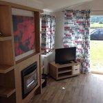Lounge area prestige caravan