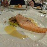 salmon on tasting menu