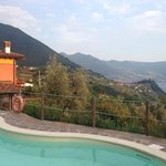 Agriturismo in the back, the pool in the front and a nice view!