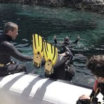 Going in the water - preparing for the deep dive