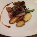 Rump of lamb with salsa verde and roast potatoes!