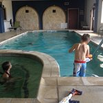 Kids having fun in pool