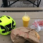 city on the wheels with really good bagels & food