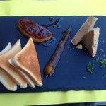 En entrée: duo de foie gras et poêlé , un délice !!!!