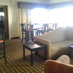 The living area of the suite was pretty spacious.