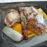 Seafood main course - cod