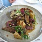 Mean main course - lamb filet with lamb shank