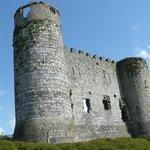 Il castello visto lateralmente