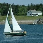 Sailing by Greenings Island