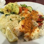 Haddock Italiano with Rice and Mixed Steamed veggies