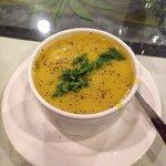 Puréed lentil soup.