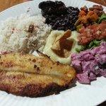 AMAZING huge Casada con pescado (fish, rice and other yummy stuff :) 2700colones