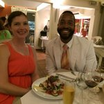 Enjoying our time at Bistrot Caraibes