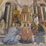 Frescoe of St Benedict Posthomously Conscreting Nuns