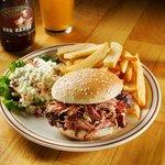 Carolina Pulled Pork Sandwich Smoked 16 hours & seasoned with Authentic Carolina seasonings