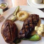 The Earls - NY Striploin and baked potato