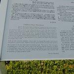Placa descritiva do monumento das crianças