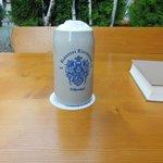 A freshly drafted Rittmayer Weizen beer in a Stein
