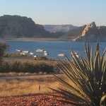 View of Lake Powell from the grounds of the Lake Powell Resort