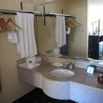 vanity area
