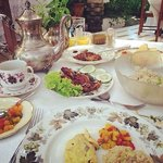 Each B&B guest is treated like a special guest. Meals are styled with the most beautiful antique