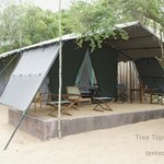 Tented hut room