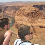 Overlooking the Colorado River at Horseshoe Bend in Page Arizona