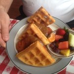 Chicken and Waffles at Sunday Brunch