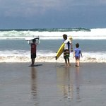 Surf lesson with daniel at playa hermosa, may 2014