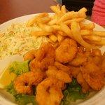 Whole Medium Fried Shrimp Platter