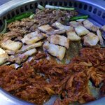 Mixture of pork & beef