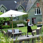 Pretty courtyard pond / gardens