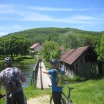 Gacka River source and water mills with Bruno