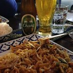 pad thai and chang beer