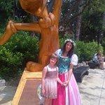 С принцессой Весна и Вуди