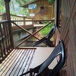 Mini balcony outside of room facing seaview.