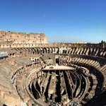 view from the top level of the Colosseum- exclusive to our tour.