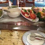 Salad Bar options, with #Caprese salad, La Trattoria Allegro Papagayo  |  Playa Manzanillo, Cost