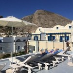 The new roof terrace at the Santellini Hotel .. a great addition for 2014