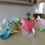 paper fold cranes