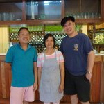 lady owner & chef with son