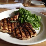 Paleo delight - fire roasted chicken with Rosemary and arugula salad with evoo.