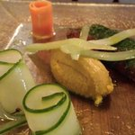 great starter. really loved the presentation of the pickled veg! yum
