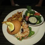 Paella Chicken Burger